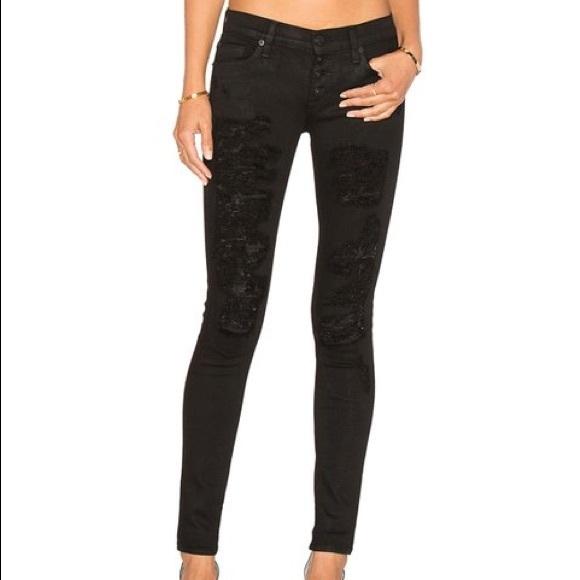 131ec7e55414d2 Hudson Ciara destroyed black jeans